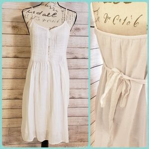 OLD Navy White Summer Dress, Size Med